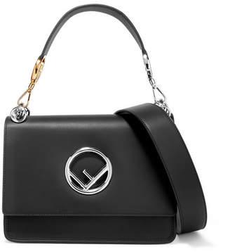 Fendi Kan I Leather Shoulder Bag - Black
