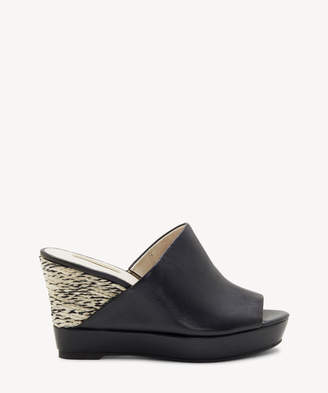 9f5345cae1 Louise et Cie Women's Ramsaye Espadrille Wedges Black Size 5 Leather From Sole  Society