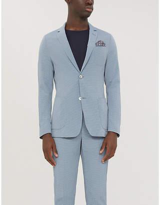 HEMINGSWORTH Striped slim-fit cotton-blend jacket