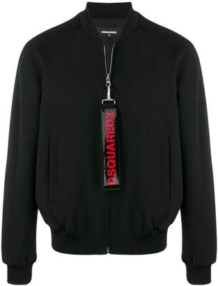 DSQUARED2 logo detail bomber jacket