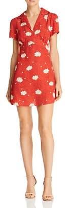 Cotton Candy Floral-Print Notch-Lapel Dress