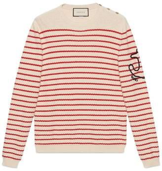 Gucci Striped cashmere knit sweater