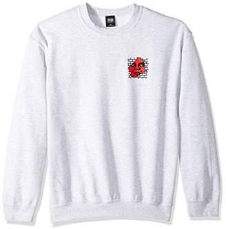 Obey Men's Big Boy Pants Basic Crew Neck Fleece Sweatshirt