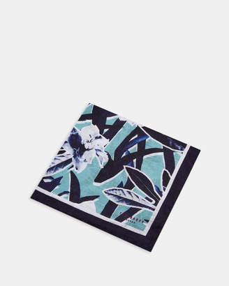 Ted Baker BOOK Floral linen pocket square