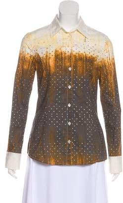 Just Cavalli Printed Button-Up Top