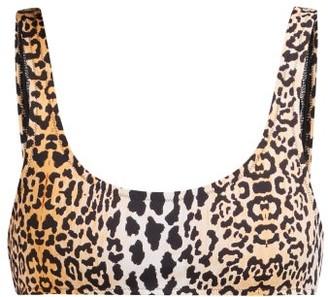 Reina Olga Rocky Leopard Print Bikini Top - Womens - Leopard