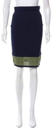 Jonathan Simkhai Open Knit Knee-Length Skirt