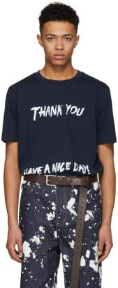 3.1 Phillip Lim Navy Thank You Have A Nice Day Perfect T-Shirt