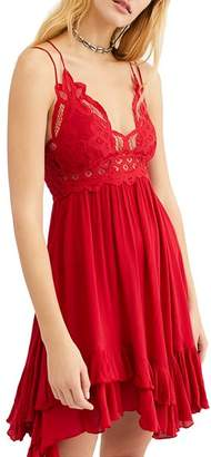 Free People Adella Sleeveless Crochet-Trim Dress