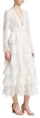 Zimmermann Bayou Tiered Swirl Dress