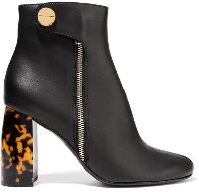 Stella McCartney - Faux Leather Ankle Boots - Black