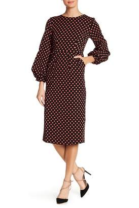 Love Place Polka Dot Puff Sleeve Dress