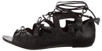 Isa Tapia Lace-Up Flat Sandals