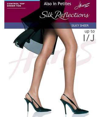 Hanes Womens Control Top Sheer Toe Silk Reflections Panty Hose