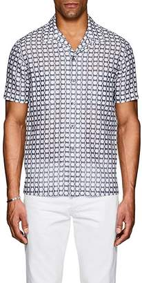 Giorgio Armani Men's Abstract Linen-Cotton Shirt