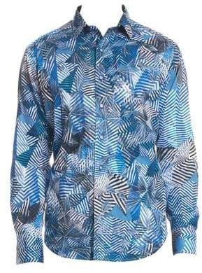 Robert Graham Santos Cotton Button-Down Shirt
