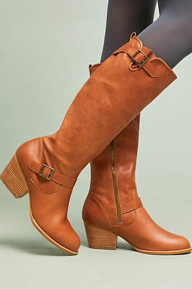 Anthropologie Buckled Riding Boots