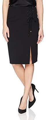 Calvin Klein Women's Crepe Skirt with Lacing,4