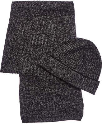 Portolano Cashmere 2Pc Wool & Angora-Blend Hat & Scarf Set
