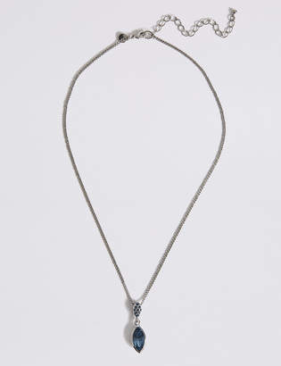 M&S Collection Pavé Drop Necklace With Swarovski® Crystals