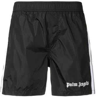 Palm Angels logo swim shorts