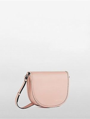 Calvin Klein Calvin Klein Womens Cartridge Coordinates Leather City Flap Bag Dusk