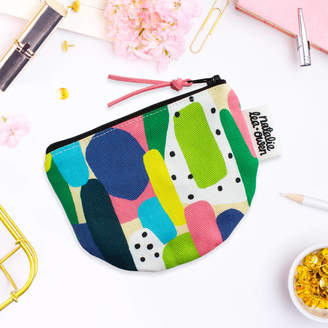 At Notonthehighstreet Natalie Lea Owen Coin Purse In Abstract Shapes Pattern