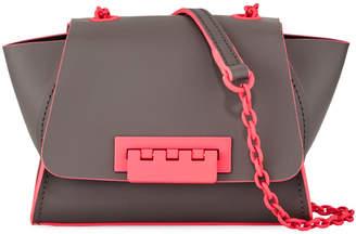 Zac Posen Eartha Iconic Mini Neon Satchel Bag, Gray/Pink