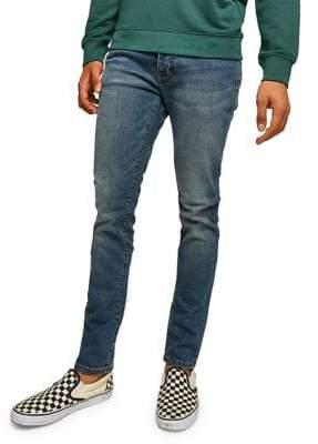Topman Mid-Wash Stretch Slim Jeans