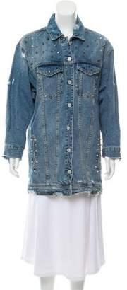 Blank NYC Distressed Denim Jacket w/ Tags
