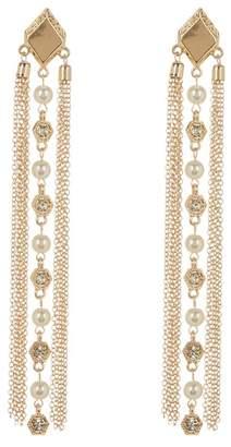 Ettika Fringe Tassel Pearl Earrings