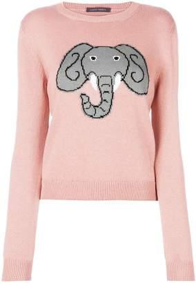 Alberta Ferretti elephant print sweater