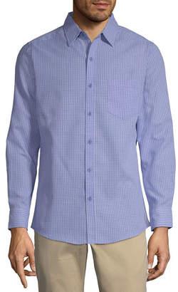 Haggar Long Sleeve Button-Front Shirt