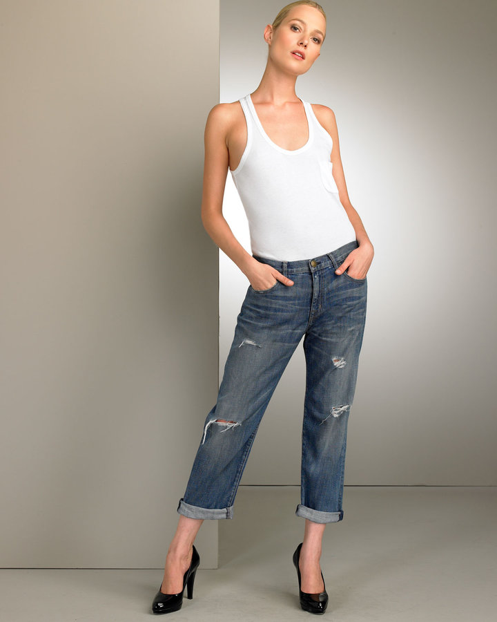 Current/Elliottt Boyfriend Cropped Jeans