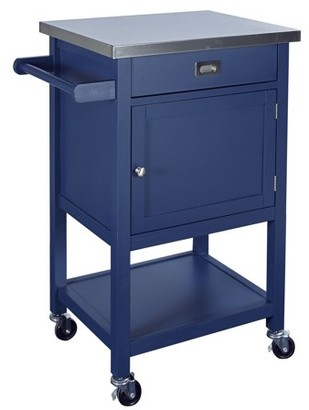 Linon Sydney Navy Kitchen Cart