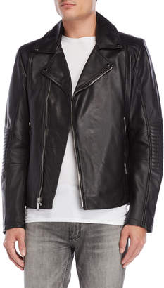 Karl Lagerfeld Black Asymmetrical Moto Jacket