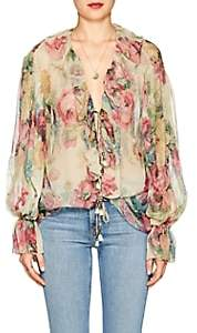 Zimmermann Women's Jaya Floral Silk Blouse