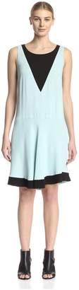 Beatrice. B Women's Colorblock Shift Dress Green 6