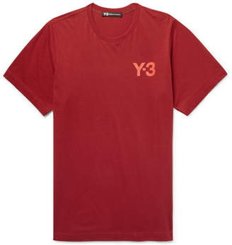 Y-3 Logo-Print Stretch-Cotton Jersey T-Shirt