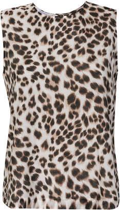 Equipment leopard print tank top