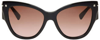 Valentino Black Garavani Rockstud Cat-Eye Sunglasses