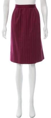 Saint Laurent Pinstripe Knee-Length Skirt