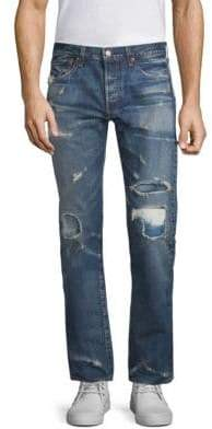 Levi's 501 Original Fit Distressed Jeans