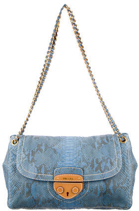 pradaPrada Python Shoulder Bag