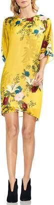Vince Camuto Autumn Botanical Dolman Sleeve Shift Dress