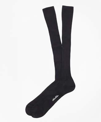 Brooks Brothers Pima Sized Over-the-Calf Socks