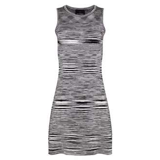 NY CHARISMA - Black & White Space-Dyed Dress