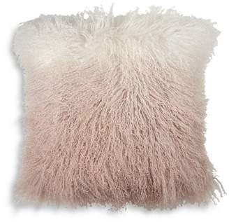 "Michael Aram Dip Dye Curly Sheepskin Pillow, 18"" x 18"""