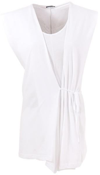 ANN DEMEULEMEESTER - Sleeveless hooded jersey tunic