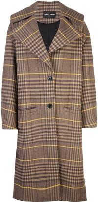 Proenza Schouler Oversized Wool Plaid Coat
